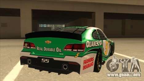 Chevrolet SS NASCAR No. 5 Quaker State para la visión correcta GTA San Andreas