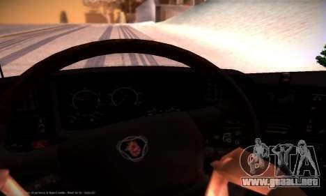 Scania R500 Topline para la vista superior GTA San Andreas