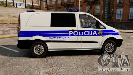 Mercedes-Benz Vito Croatian Police v2.0 [ELS] para GTA 4 left