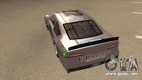 Ford Fusion NASCAR No. 32 C&J Energy services para GTA San Andreas vista hacia atrás