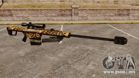 El francotirador Barrett M82 rifle v9 para GTA 4