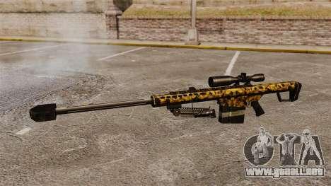 El v12 de rifle de francotirador Barrett M82 para GTA 4 tercera pantalla