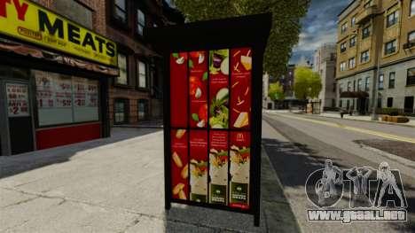 Nueva publicidad en paradas de autobús para GTA 4 adelante de pantalla
