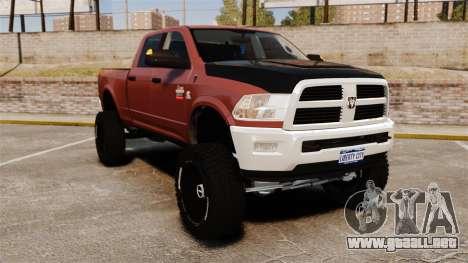 Dodge Ram 2500 Lifted Edition 2011 para GTA 4
