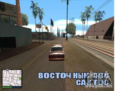 GTA 5 HUD para GTA San Andreas segunda pantalla