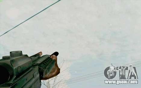 La M4a1 para GTA San Andreas quinta pantalla