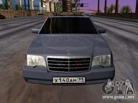 Mercedes-Benz S600 W140 para la visión correcta GTA San Andreas
