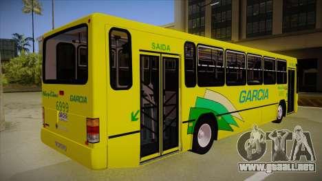 Busscar Urbanus SS Volvo B10 M garcia para la visión correcta GTA San Andreas