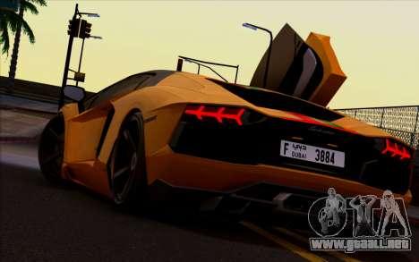 Lamborghini Aventador LP700-4 Vossen V2.0 Final para la visión correcta GTA San Andreas