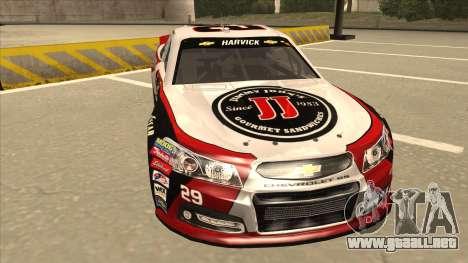 Chevrolet SS NASCAR No. 29 Jimmy Johns para GTA San Andreas left