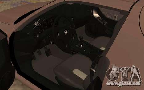 Honda CRX DelSol TMC para GTA San Andreas vista hacia atrás