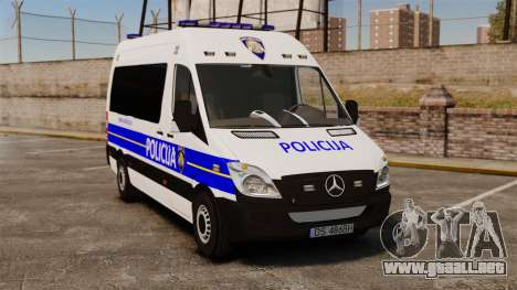 Mercedes-Benz Sprinter Croatian Police [ELS] para GTA 4