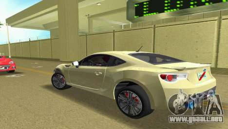 Subaru BRZ Type 1 para GTA Vice City visión correcta