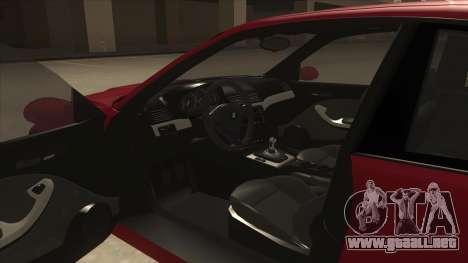 BMW M3 Tuned para visión interna GTA San Andreas