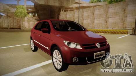 VW Gol Power 1.6 2009 para GTA San Andreas left