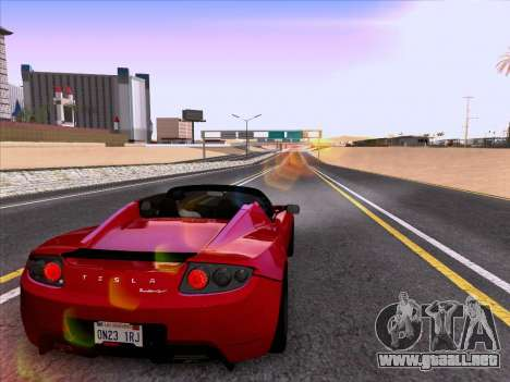 Tesla Roadster Sport 2011 para vista inferior GTA San Andreas