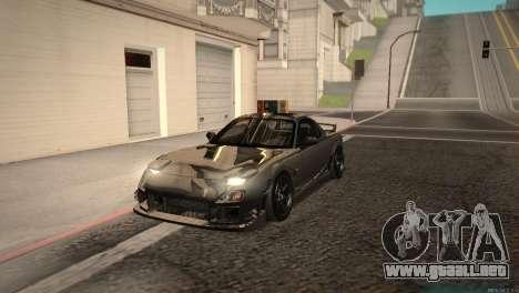 Mazda RX-7 STANCENATION para GTA San Andreas left
