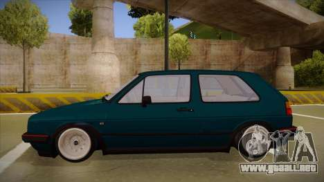 Volkswagen Golf MK2 Stance Nation by Razvan11 para GTA San Andreas vista posterior izquierda
