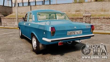 Volga GAZ-2410 v3 para GTA 4 Vista posterior izquierda