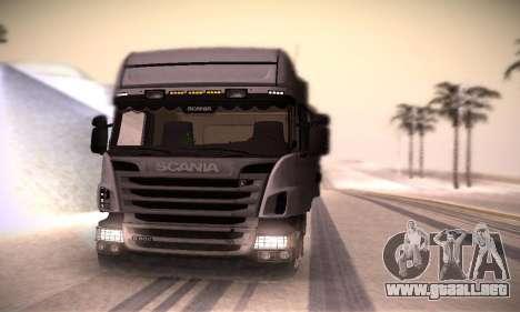 Scania R500 Topline para la visión correcta GTA San Andreas