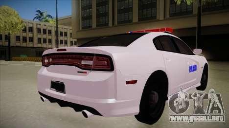 Dodge Charger SRT8 Policija para la visión correcta GTA San Andreas