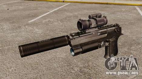 Pistola de águila del desierto (táctico) para GTA 4 tercera pantalla