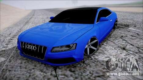 Audi S5 para GTA San Andreas vista hacia atrás