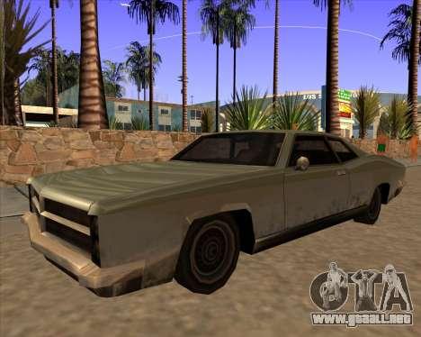 Buccaneer para GTA San Andreas vista posterior izquierda