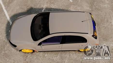 Volkswagen Gol G6 2013 Turbo Socado para GTA 4 visión correcta