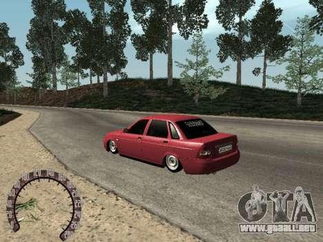 Lada 2170 Priora para GTA San Andreas vista posterior izquierda