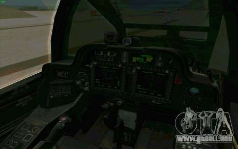 AH-64 Apache para vista lateral GTA San Andreas