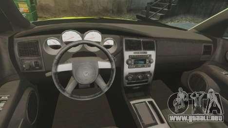 Dodge Magnum West Coast Customs para GTA 4 vista hacia atrás
