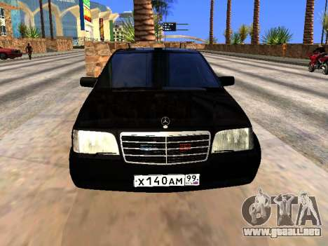 Mercedes-Benz S600 W140 para GTA San Andreas vista posterior izquierda
