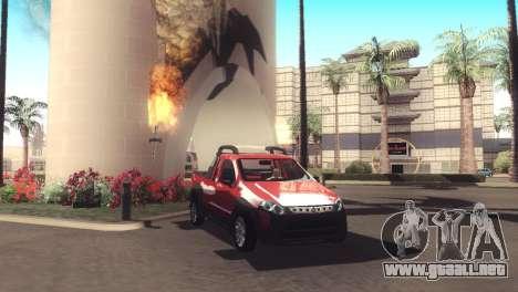 Fiat Strada Locker 2013 para visión interna GTA San Andreas