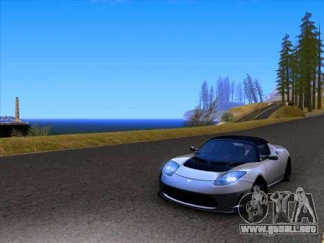 Tesla Roadster Sport 2011 para vista lateral GTA San Andreas
