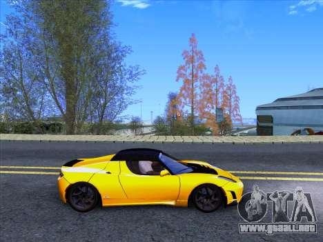 Tesla Roadster Sport 2011 para GTA San Andreas vista hacia atrás