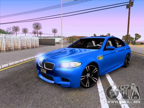 BMW M5 F10 2012 Autovista para GTA San Andreas