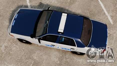 Ford Crown Victoria Virginia State Police [ELS] para GTA 4 visión correcta