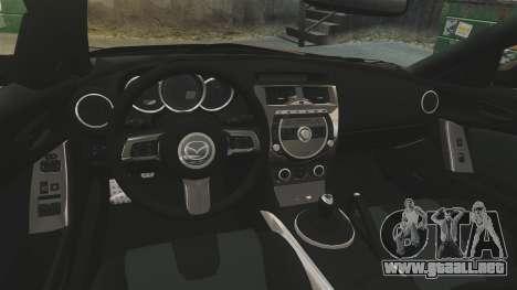 Mazda RX-8 R3 2011 Police para GTA 4 vista interior