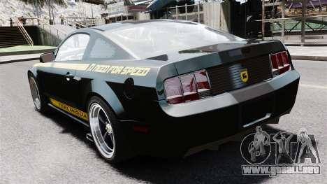 Shelby Terlingua Mustang para GTA 4 Vista posterior izquierda