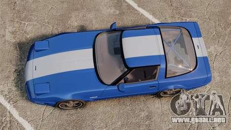 Chevrolet Corvette C4 1996 v2 para GTA 4 visión correcta