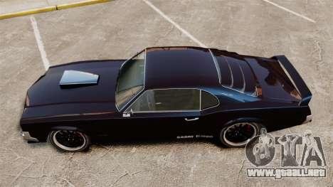 La nueva versión del Sabre GT para GTA 4 Vista posterior izquierda