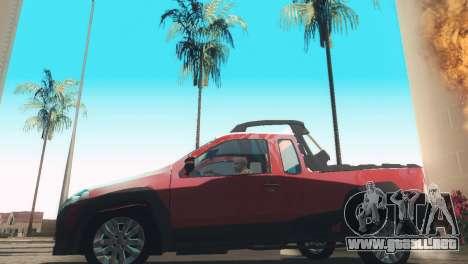 Fiat Strada Locker 2013 para GTA San Andreas vista posterior izquierda
