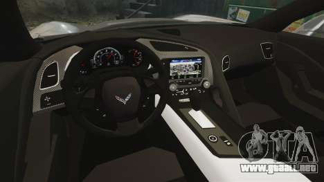 Chevrolet Corvette C7 Stingray 2014 para GTA 4 vista interior