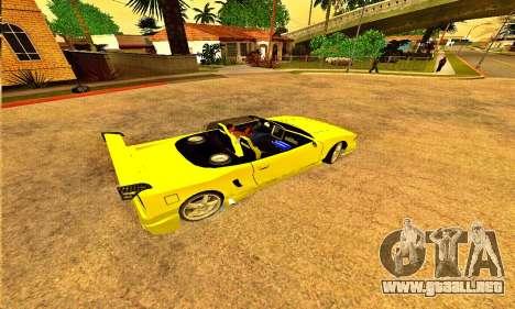 Infernus Cabrio Edition para GTA San Andreas left