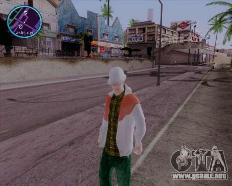 Maccer HD para GTA San Andreas segunda pantalla