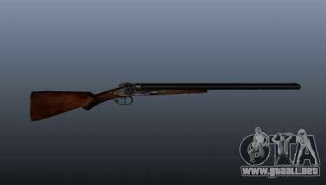 Escopeta de doble cañón para GTA 4 tercera pantalla