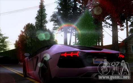 Lamborghini Aventador LP700-4 Vossen V2.0 Final para GTA San Andreas vista hacia atrás
