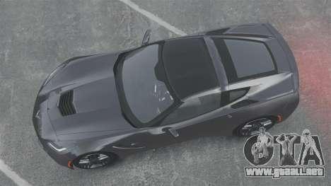 Chevrolet Corvette C7 Stingray 2014 para GTA 4 visión correcta
