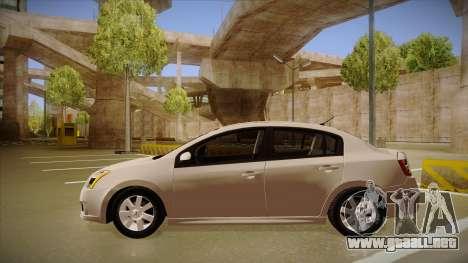 Nissan Sentra S 2008 para GTA San Andreas vista posterior izquierda